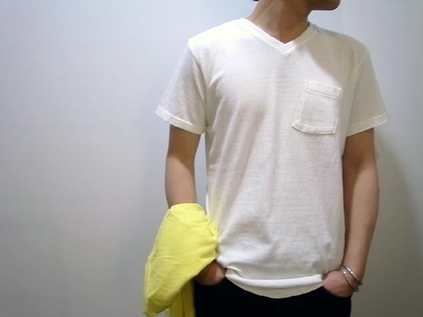 V-neck with pocket by FilMelange fabric