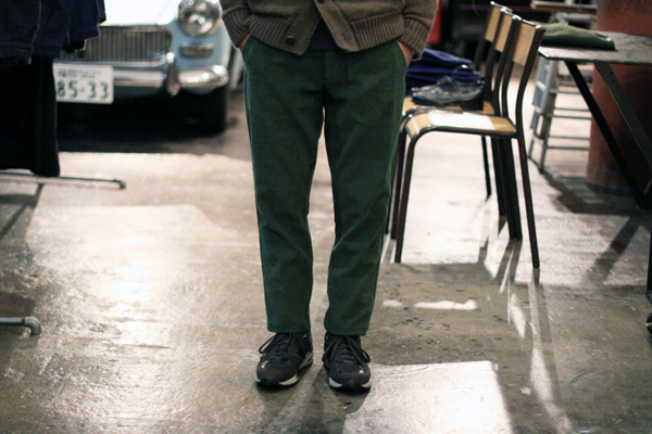 tapered pants by corduroy fabric