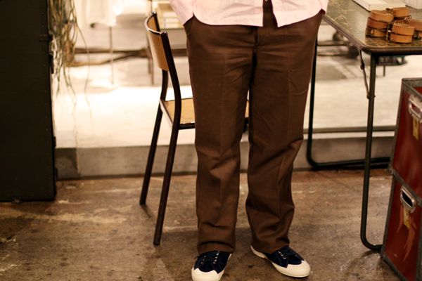 French work Brown Twill pants