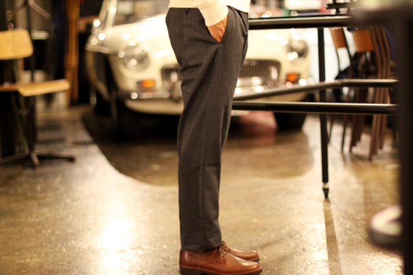 Cotton Twill Dress Pants