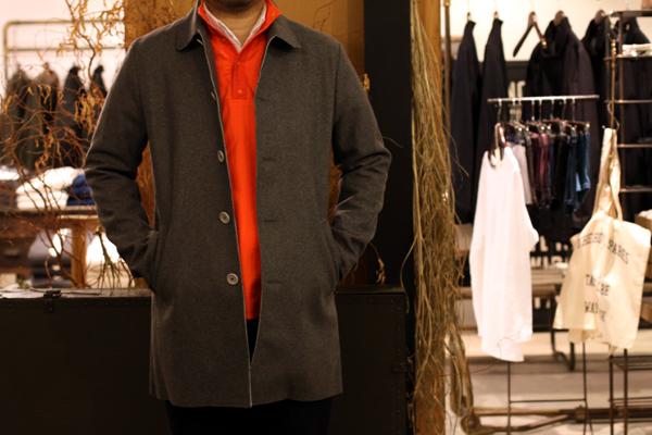 neoprene + wool bonded coat