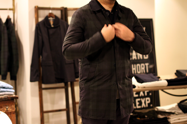 BLACK WATCH WAXED CHECK coat